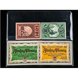 Group (4) Notgeld Notes Austria and Germany