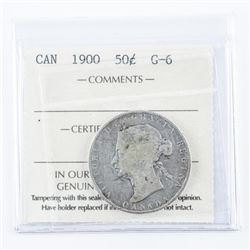 1900 Canada Silver Dollar G6 ICCS