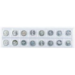Group (16) Silver Coin Dimes