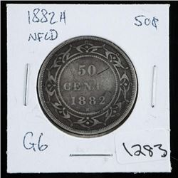 1882H NFLD Silver 50 Cent. G6