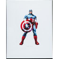 Super Heroes Captain America 8x10 Giclee  Matted