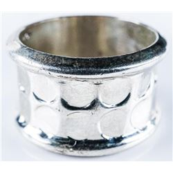 Estate Ring 925 Silver Wide Band. Size 8