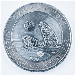 .9999 Fine Silver 2.00 Coin 'Howling Wolf'