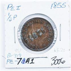 P.E.I. 1/2P 1855 Token BR. 919 VF20