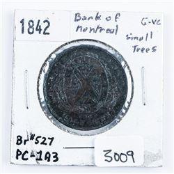 1842 B.O.M. Token Br#527 PC-193 Small Trees  G-VG