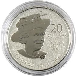 Sold Out - Royal Canadian Mint Queen's Diamond Jubilee .9999 Fine Silver 20.00 Coin.