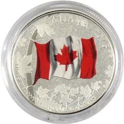 Sold Out - Royal Canadian Mint Colourized Canadian Flag .9999 Fine Silver 25.00 Coin.