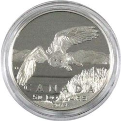 Sold Out - Royal Canadian Mint Owl .9999 Fine Silver 50.00 Coin.