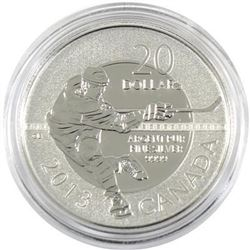 Sold Out - Royal Canadian Mint Hockey .9999 Fine Silver 20.00 Coin.