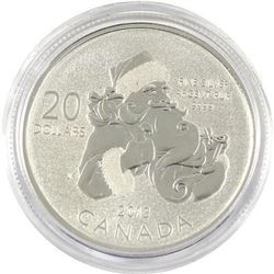 Sold Out - Royal Canadian Mint Santa .9999 Fine Silver 20.00 Coin.