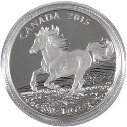 Sold Out - Royal Canadian Mint Canada's Horse .9999 Fine Silver 100.00 Coin.