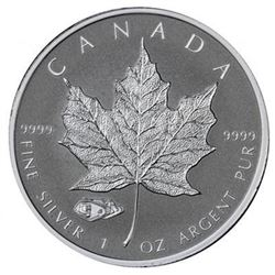 Scarce - Royal Canadian Mint .9999 Fine Silver 1oz Round with Tank Privy Mark. Very Collectible.