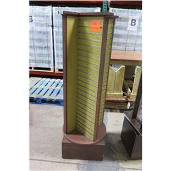 Swiveling Vertical Slatboard Display Column