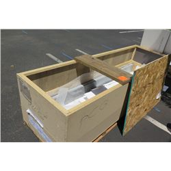Crate of Pre-Fab Granite Slabs, Various Sizes