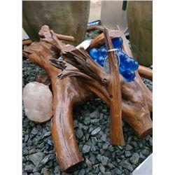 Salt Crystals & wood art acat C