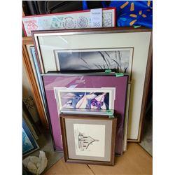 Assortment of framed printsCat B
