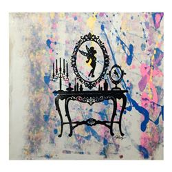 "Gail Rodgers, ""Mirror Mirror"" Hand Signed Original Hand Pulled Silkscreen Mixed Media on Canvas with"