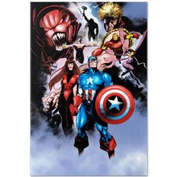 "Marvel Comics ""Avengers #99 Annual"" Numbered Limited Edition Giclee on Canvas by Leonardo Manco with"