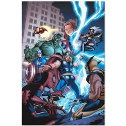 "Marvel Comics ""Marvel Adventures: The Avengers #31"" Numbered Limited Edition Giclee on Canvas by Sal"