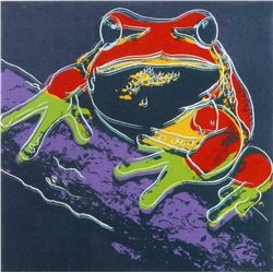 "Andy Warhol- Screenprint in colors ""Pine Barrens Tree Frog"""