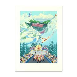 "Melanie Taylor Kent, ""Winter Olympics Games"" Limited Edition Serigraph, Numbered and Hand Signed wit"