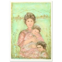 "Edna Hibel (1917-2014), ""Tatyana's Family"" Limited Edition Lithograph, Numbered and Hand Signed with"