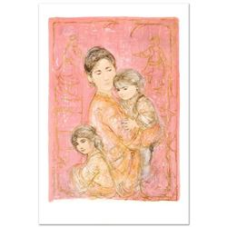 """Sonya and Family"" Limited Edition Lithograph by Edna Hibel (1917-2014), Numbered and Hand Signed wi"