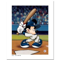 """Mickey at the Plate (Yankees)"" Numbered Limited Edition Giclee licensed by Disney with Certificate"