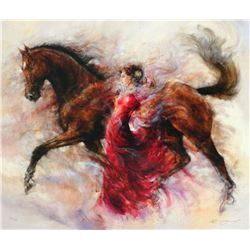 "Gary Benfield ""Mercedes Storm"" Giclee on Canvas"
