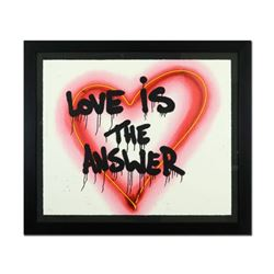 "Mr. Brainwash, ""Speak from The Heart (Love is the Answer)"" Framed Limited Edition Silk Screen. Hand"