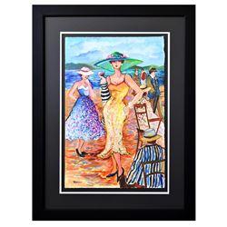 "Patricia Govezensky- Original Watercolor ""Rebecca Shows Up"""
