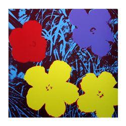 "Andy Warhol ""Flowers 11.71"" Silk Screen Print from Sunday B Morning."