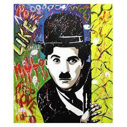 "Nastya Rovenskaya- Original Oil on Canvas ""Chaplin is a Comedy Star"""