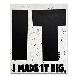 Todd Goldman,  Made It Big  Original Acrylic Painting on Gallery Wrapped Canvas (60  x 72 ), Hand Si