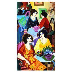 "Patricia Govezensky- Original Acrylic on Canvas ""In the Restaurant"""