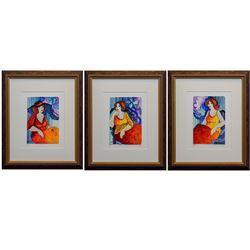 "Patricia Govezensky- Original Watercolors ""My Friends"""