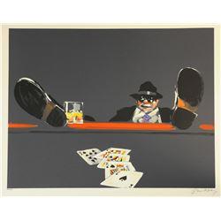 "Waldemar Swierzy (1931-2013)- Hand Pulled Original Lithograph ""Royal Flush"""