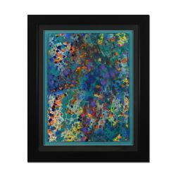 Wyland,  Pollack Coral Reef  Framed Original Watercolor Painting, Hand Signed with Letter of Authent