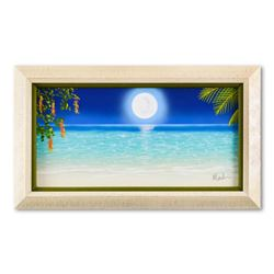 """Dan Mackin, """"Beach Stroll"""" Framed Original Oil Painting on Canvas Hand Signed with Letter of Authent"""
