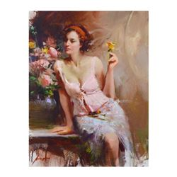 """Pino (1939-2010), """"Sweet Scent"""" Limited Edition Artist-Embellished Giclee on Canvas. Numbered and Ha"""