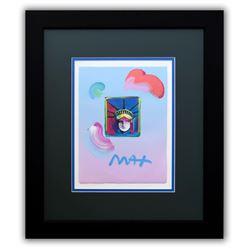 """Peter Max- Original Mixed Media """"Liberty Head II Ver. I#212"""""""