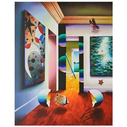 """Ferjo, """"Interior Miro Monet"""" Original Painting on Canvas, Hand Signed with Letter of Authenticity."""