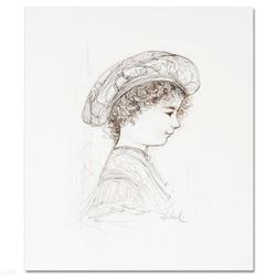 """""""Ove"""" Limited Edition Lithograph by Edna Hibel (1917-2014), Numbered and Hand Signed with Certificat"""