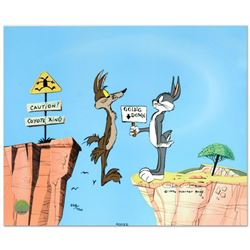 """Chuck Jones (1912-2002), """"Coyote Crossing"""" Limited Edition Animation Cel with Hand Painted Color, Da"""