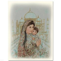 """""""Majesty at the Taj Mahal"""" Limited Edition Lithograph by Edna Hibel (1917-2014), Numbered and Hand S"""