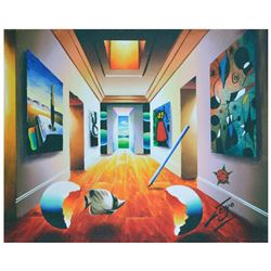 "Ferjo, ""Sunny Hallway"" Original Painting on Canvas, Hand Signed with Letter of Authenticity."