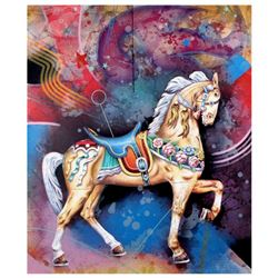 "Yankel Ginzburg, ""Carousel"" Hand Signed Limited Edition Serigraph with Letter of Authenticity."