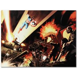"Marvel Comics ""Fallen Son: Death of Captain America #5"" Numbered Limited Edition Giclee on Canvas by"