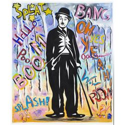 "Nastya Rovenskaya- Original Oil on Canvas ""Chaplin"""