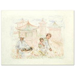 """""""Then and Now"""" Limited Edition Lithograph by Edna Hibel (1917-2014), Numbered and Hand Signed with C"""